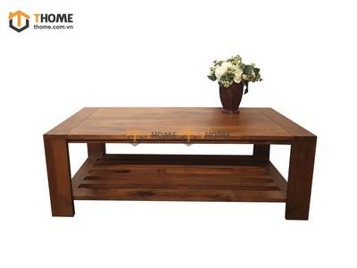 Bàn sofa gỗ óc chó 2 tầng 1.2m BSF-02OC