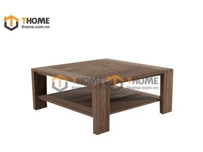 Bàn sofa vuông gỗ óc chó 1.0m BSF-03OC