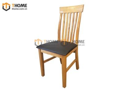 Ghế ăn 5 nan đứng gỗ sồi mặt nệm GHE-04SM