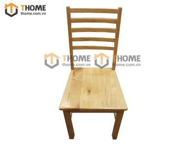 Ghế ăn 5 nan gỗ sồi mặt gỗ GHE-05SM