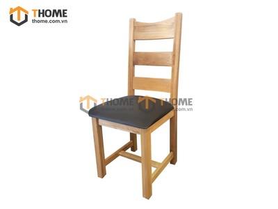 Ghế ăn 3 nan gỗ sồi mặt nệm GHE-06SM