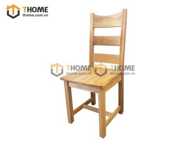 Ghế ăn 3 nan gỗ sồi mặt gỗ GHE-07SM
