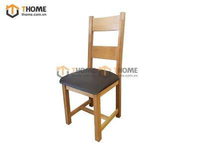 Ghế ăn 2 nan gỗ sồi mặt nệm GHE-10SM