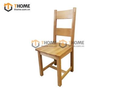 Ghế ăn 2 nan gỗ sồi mặt gỗ GHE-11SM