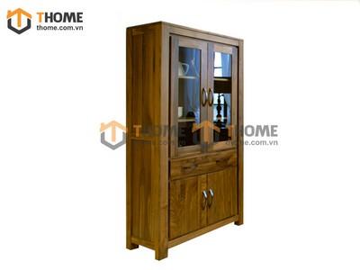 Tủ trang trí hiện đại gỗ óc chó 0.95m KS-02OC