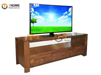 Kệ tivi 3 hộc kéo gỗ óc chó 1.6m KTV-03OC