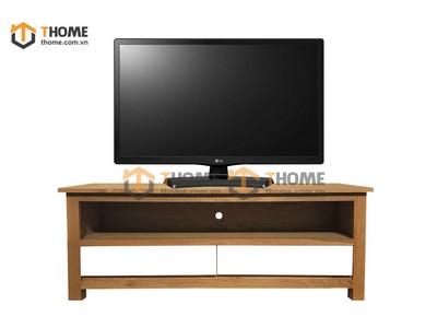 Kệ tivi thấp 2 hộc kéo màu trắng 1.2m KTV-24SM