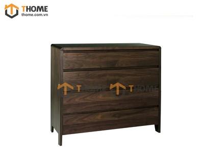 Tủ ngăn kéo 4 hộc gỗ óc chó 0.8m TNK-01OC