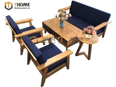 Bộ sofa Como kiểu Nhật chân xéo 5 món nệm nỉ SF-04SM