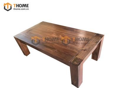 Bàn sofa gỗ óc chó 1 tầng 1.2m BSF-01OC