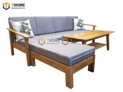 Bộ sofa góc Capri cho căn hộ nhỏ 3 món nệm nỉ 2.3m SF-09SM