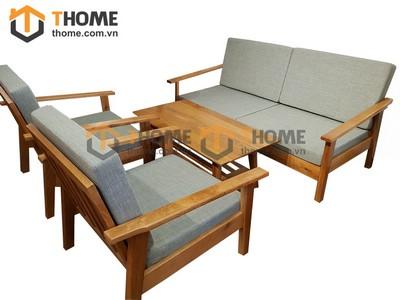 Bộ sofa Como mới tay nhỏ kiểu Nhật 5 món nệm nỉ SF-10SM