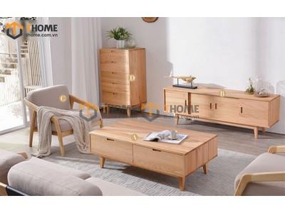 Bộ phòng khách Como chân xéo kiểu 1 gồm 3 món BPK-14SM