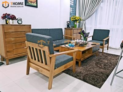 Bộ phòng khách sofa Como tay nhỏ gồm 3 món BPK-04SM