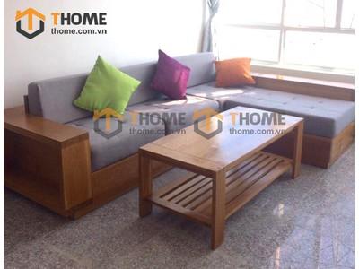 Bộ phòng khách sofa góc kiểu 1 gồm 2 món BPK-01SM