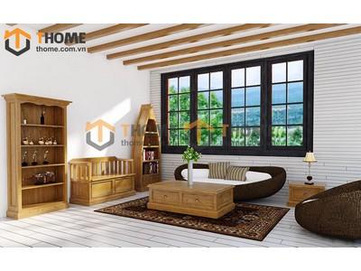Bộ phòng khách sofa ghế mây 4 món BPK-07SM