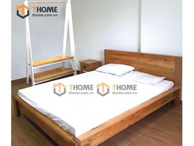 Bộ phòng ngủ Nhật vai nhỏ chân cao 3 món BPN-08SM