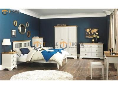 Bộ phòng ngủ Hampshire màu trắng 5 món BPN-23SM