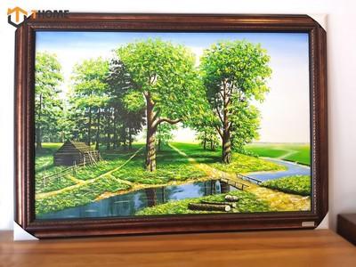Tranh sơn dầu cây sồi xanh TSD-11