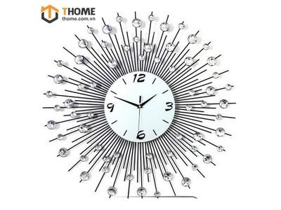 Đồng hồ đính hạt tia bạc DC-04-19
