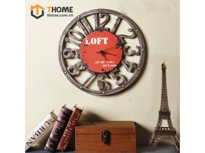 Đồng hồ gỗ giả cổ LOFT ĐH-07