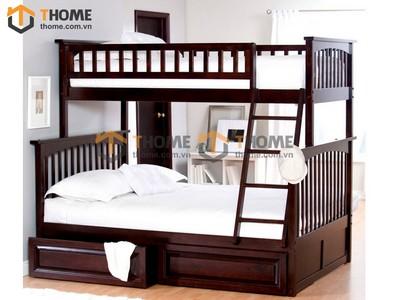 Giường trẻ em 3 tầng Bella kiểu 2 1.42m GT-04SM
