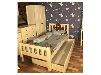 Bộ phòng ngủ trẻ em màu trắng 7 món BPNTE-01SM