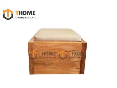 Ghế đôn sofa mặt gỗ 0.5m GHE-31SM