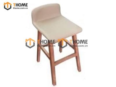 Ghế bar cao cấp chân vuông có nệm GHE-32XK