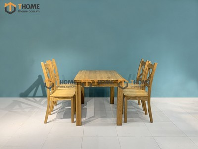 Bộ bàn ăn Harris 4 ghế X 1.2m; 1.35m; 1.4m BBA-02SM