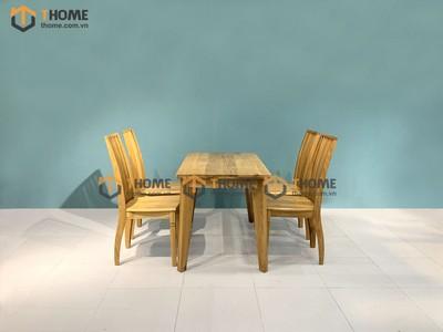 Bộ bàn ăn Harmony 4 ghế 9 nan 1.2m; 1.4m BBA-13SM