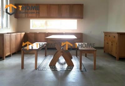 Bộ bàn ăn Harris 2 ghế bench 1.6m; 1.8m; 2.0m BBA-17SM