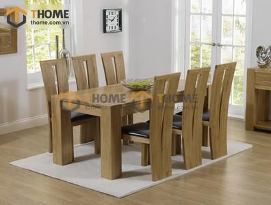 Bộ bàn ăn Chunky 6 ghế tampa 1.6m; 1.8m; 2.0m BBA-19SM