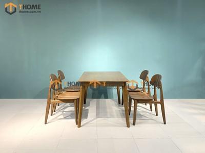 Bộ bàn ăn Obama 4 ghế op 1.2m; 1.4m BBA-24SN