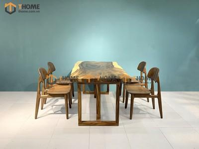 Bộ bàn ăn Me Tây 4 ghế op 1.4m; 1.6m; 1.8m; 2.0m BBA-85SN