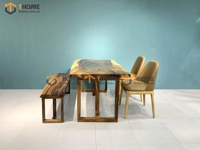 Bộ bàn ăn Me Tây 2 ghế neva, 1 ghế bench 1.4m; 1.6m; 1.8m; 2.0m BBA-87SN