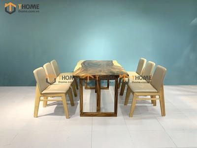 Bộ bàn ăn Me Tây 6 ghế obama 1.4m; 1.6m; 1.8m; 2.0m BBA-88SN