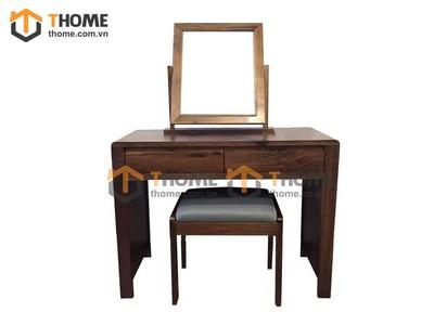 Bộ bàn trang điểm kiểu Nhật gỗ óc chó 1.0m BTD-01OC