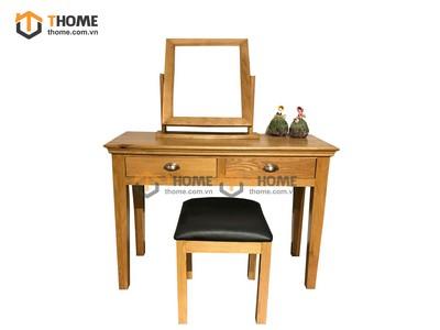 Bộ bàn trang điểm hampshire (bàn+gương+đôn) 1.1m BTD-01SM
