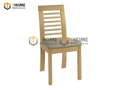 Ghế ăn lakada gỗ sồi mặt nệm GHE-01SM