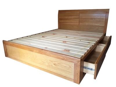 Giường ngủ Nova đầu cong lá sách 2 hộc kéo 1.2m; 1.4m; 1.6m; 1.8m; 2.0m GN-01SM
