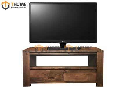 Kệ tivi 2 hộc kéo gỗ óc chó 1.2m KTV-01OC