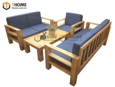Bộ sofa Tokyo hiện đại gỗ sồi 4 món nệm nỉ SF-05SM