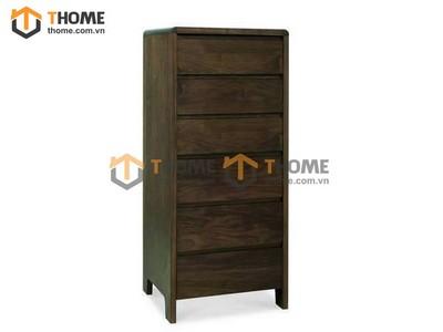 Tủ ngăn kéo 6 hộc gỗ óc chó 0.6m TNK-02OC