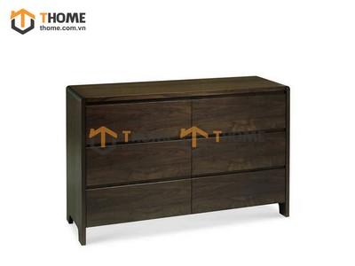 Tủ ngăn kéo 6 hộc gỗ óc chó 0.76m TNK-04OC