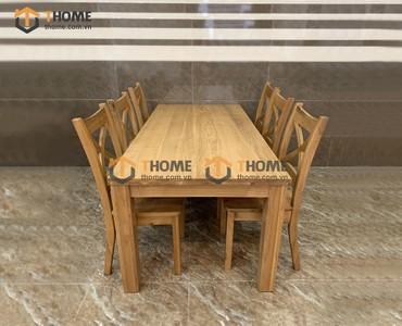 Bộ bàn ghế ăn Harris 6 ghế X 1.6m; 1.8m; 2.0m BBA-05SM