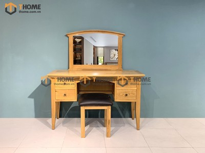 Bộ bàn trang điểm 4 hộc chân cao (bàn+gương+đôn) 1.32m BTD-12SM
