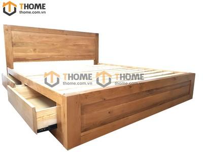 Giường ngủ Cuba đầu thẳng 2 hộc kéo 1.6m; 1.8m GN-05SM