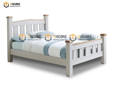 Giường ngủ Woodstock đuôi cao màu trắng 1.6m; 1.8m GN-26SM