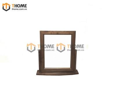 Gương soi để bàn gỗ óc chó 0.45m GS-01OC